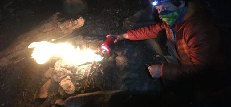 Oheň, hamaka a lezenie